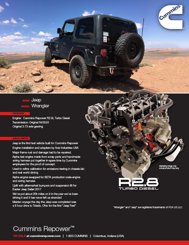 Repower Profile: Cummins Jeep Wrangler | Cummins Inc