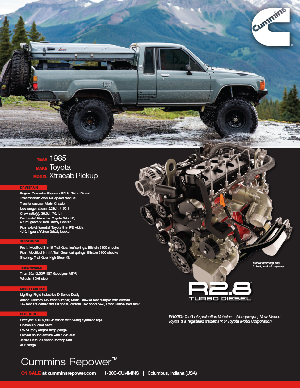 Repower Profile: TAV Toyota Xtra Cab | Cummins Inc