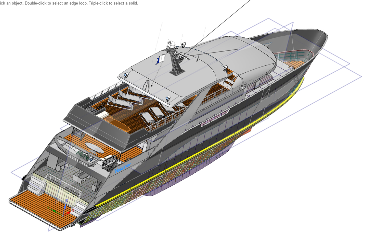 A 3-D rendering of Seacrest's new dive-support vessel.
