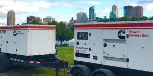 cummins rental generators on-site