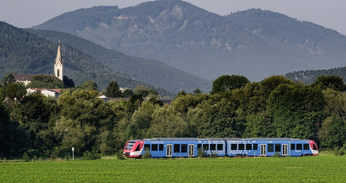 Alstom's hydrogen powered passenger train.