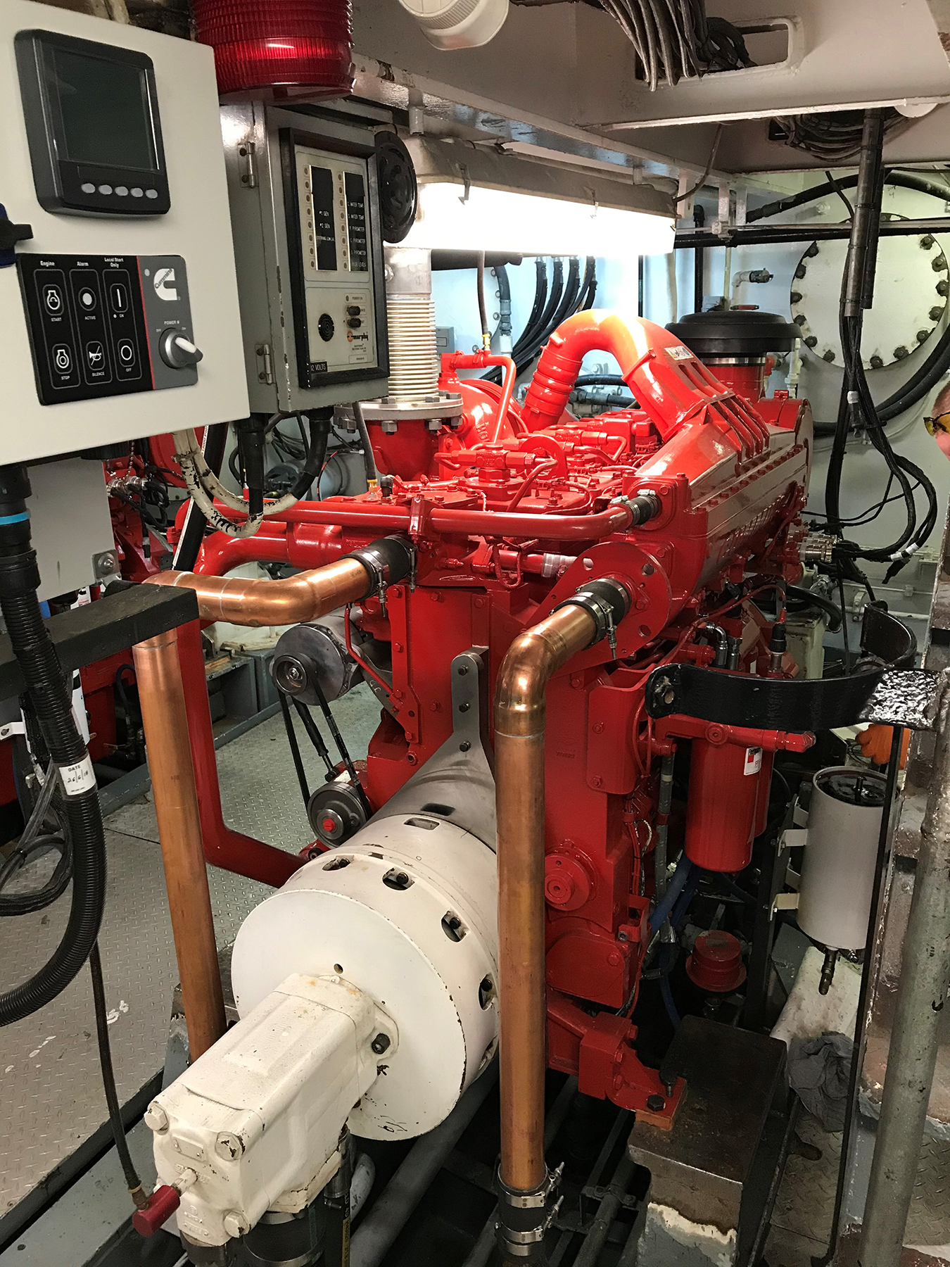 Army Tug Engine Room: Repower Of The Tug Gretchen H
