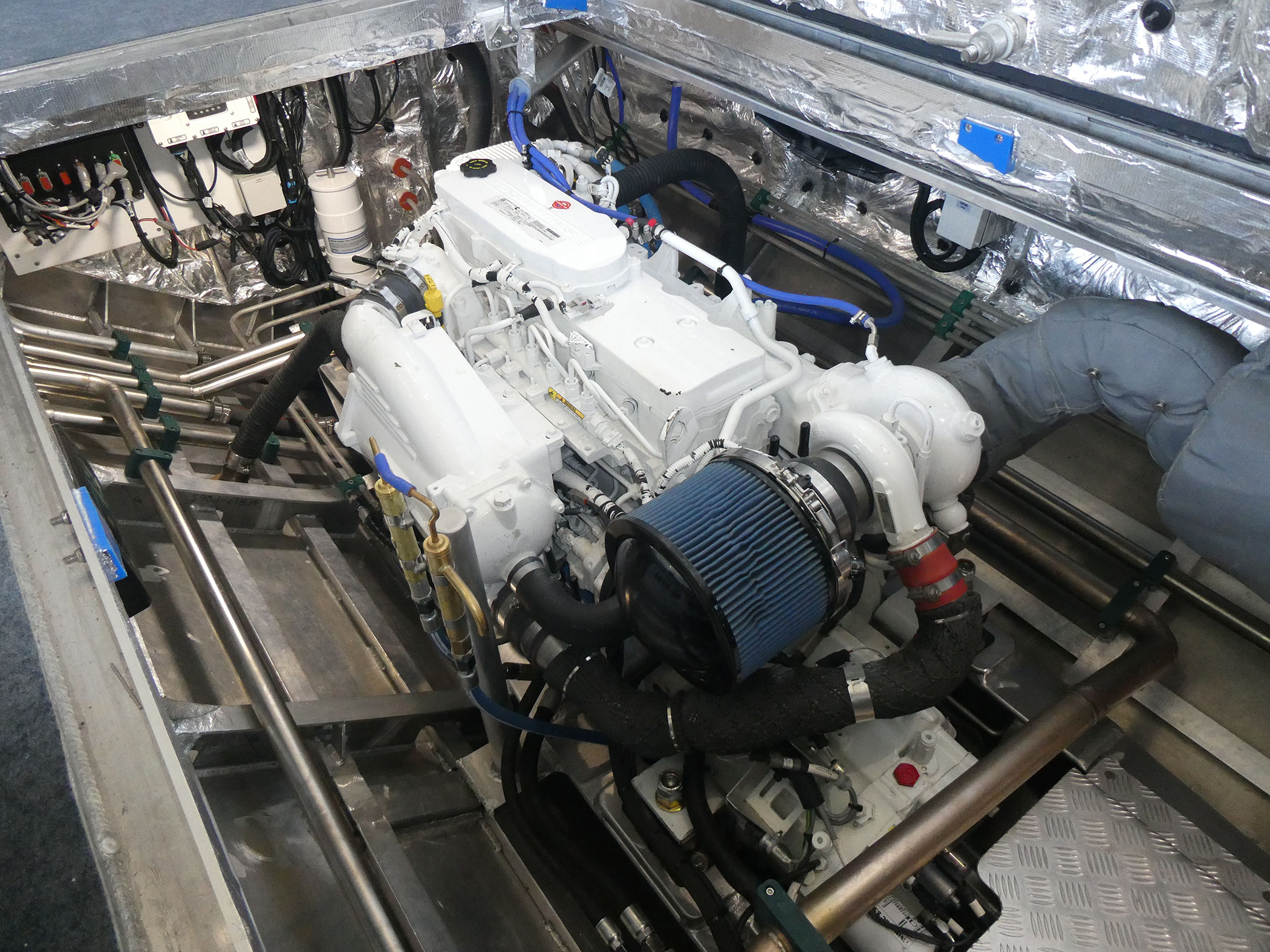 One of the two 184 kW Cummins QSB6.7 main engines