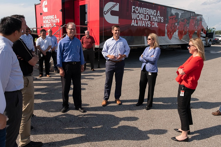 U.S. Sen. Mike Braun meets with Cummins employees.