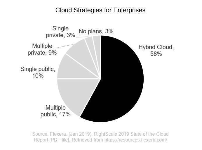 Cloud strategies and hybrid clouds for enterprises