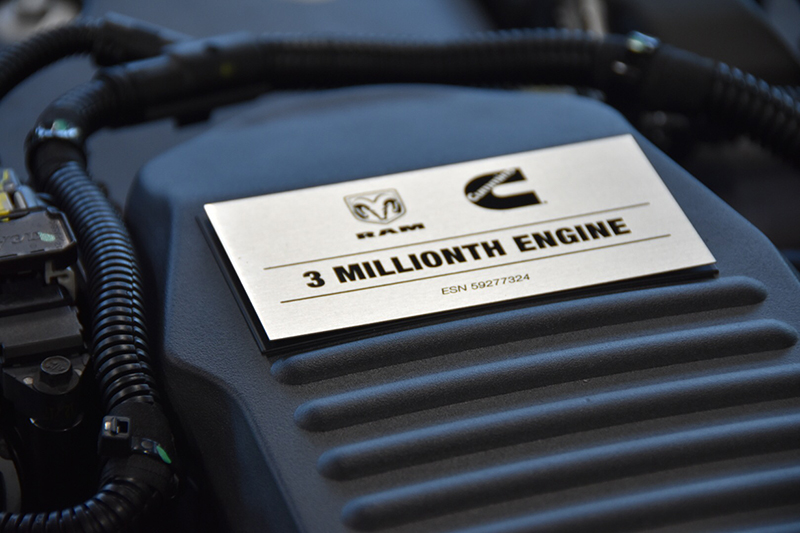 Cummins RAM 3 millionth engine - Commemorative faceplate