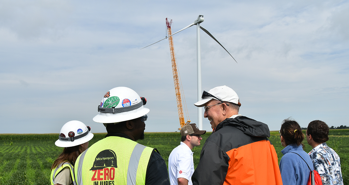 Cummins' support is helping a northwest Indiana windfarm expand.