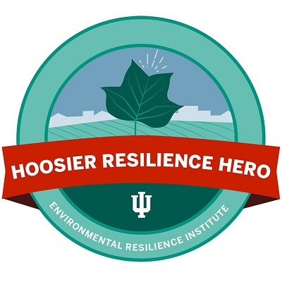 Logotipo do herói da resiliência do Hoosier
