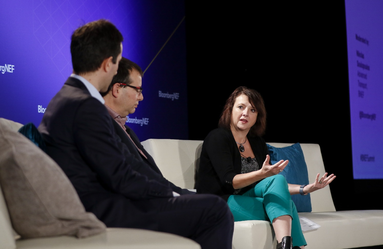 Photo of Julie Furber at BNEF conference