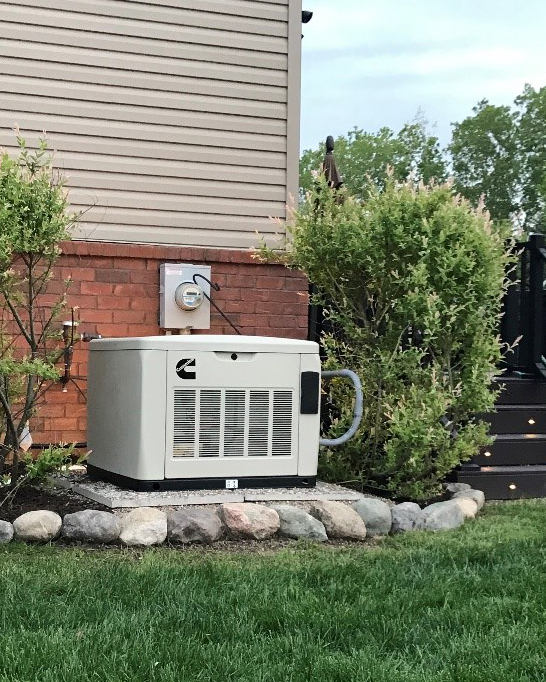 Cummins home generator set outside a home in Michigan