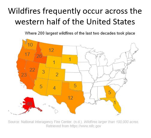 Planned power outage wildfire map
