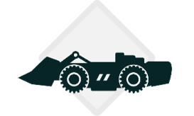 underground mining machine icon