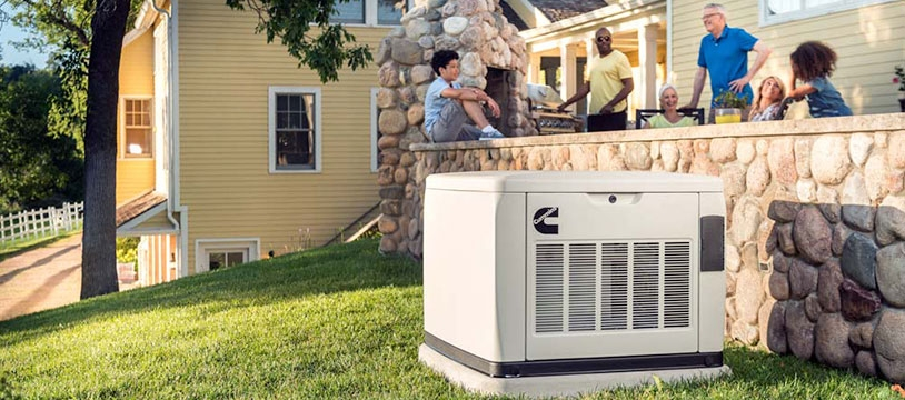 Cummins Home Generator Outside - LP & Natural Gas Standby Power