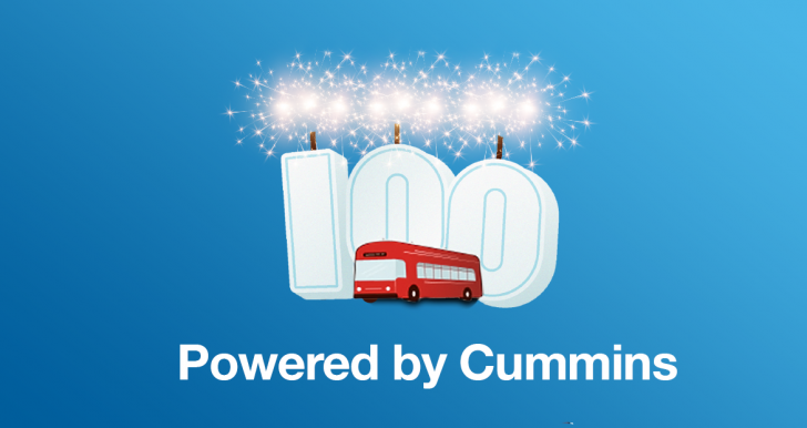Cummins and GILLIG deliver their 100th battery electric bus