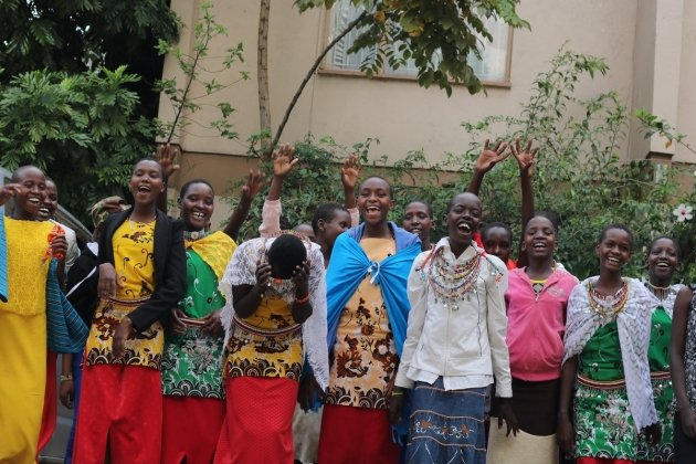 Participants in Rise Up's Girls' Voices Initiative in Kenya learn how to develop their own strategies to improve girls' lives.