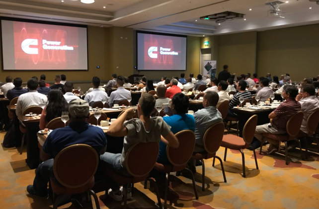 Attendances at the Colombian Power Seminar events were far higher than the expected numbers