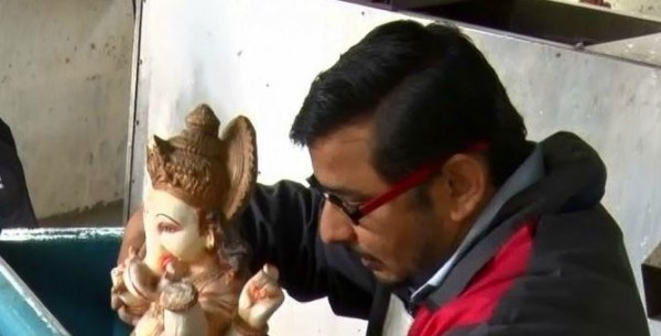 Cummins employees find innovative way to safely dissolve plaster of Paris idols