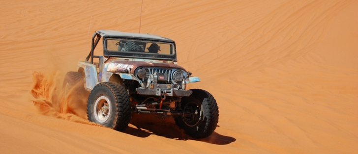 Cummins powered Jeep UACJ-6D on sand dunes