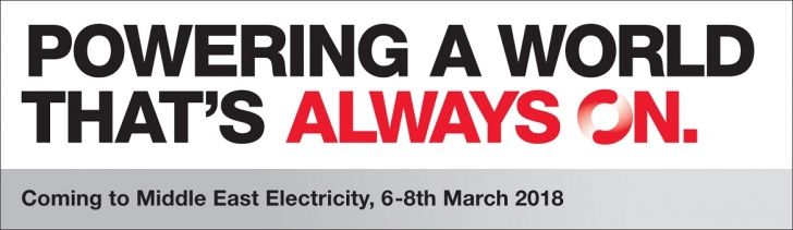 See how Cummins is powering a world that's Always On by visiting the Cummins stand at Middle East Electricity.