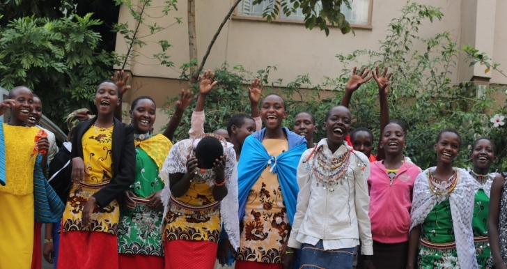 Participants in Rise Up's Girls' Voices Initiative in Kenya.
