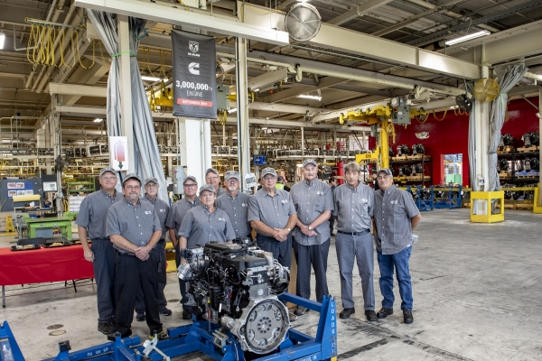 Longtime employees at the Columbus MidRange Engine Plant are honored for their dedicated service to the company and the RAM engine.