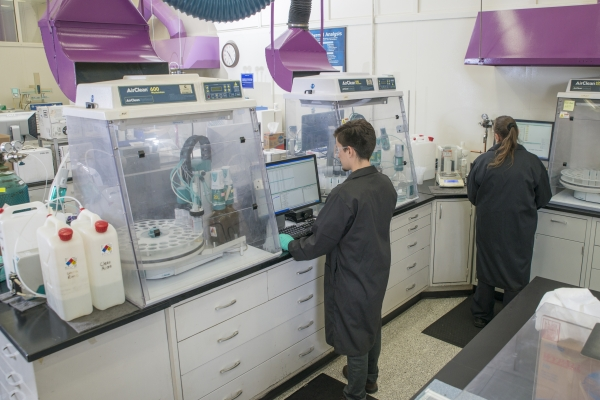 Cummins employees research ways to improve the company's engines at the  Cummins Technical Center in Columbus, Indiana (U.S.A.).