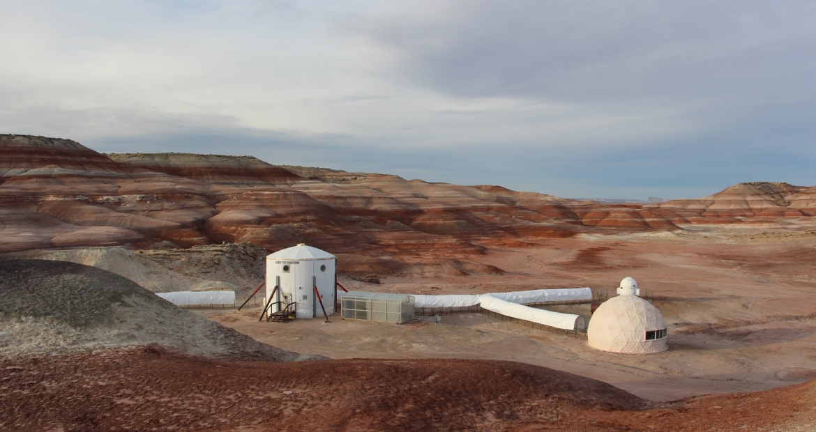 The Purdue University team spent about two weeks in the Mars Society's Desert Research Center, which simulates what life would be like on Mars.