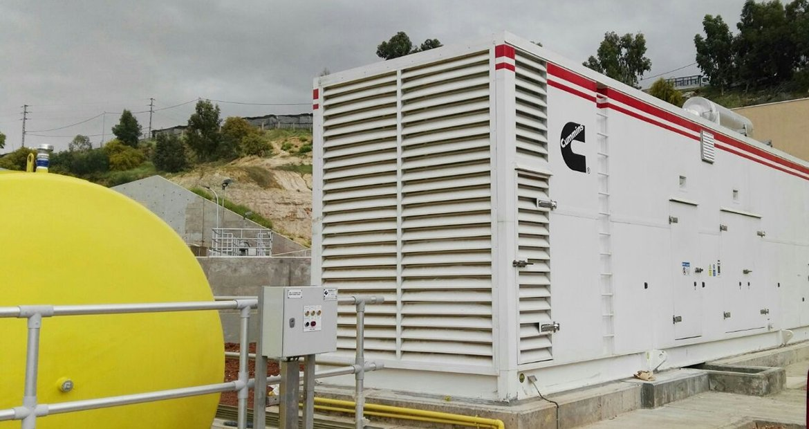 Authorized Cummins distributor S.E.T.I. Jordan Ltd. provided the supply and assembly of the Cummins generator set and a specially designed aluminum container with motorized louvers to meet unique customer requirements at a brand-new wastewater treatment plant.