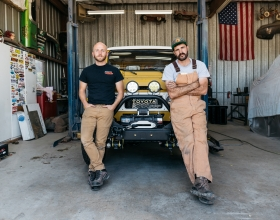 Steven Ploog (left) and Nathan Stuart (right) are taking their two re-powered classic Land Cruisers for a carbon-neutral spin to Panama. Both vehicles will be powered by R2.8 Cummins Turbo Diesel crate engines.