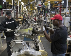 Caption: Cummins Chairman and CEO Tom Linebarger says NAFTA means thousands of jobs for American workers at locations such as the company's engine plant in Jamestown, New York.