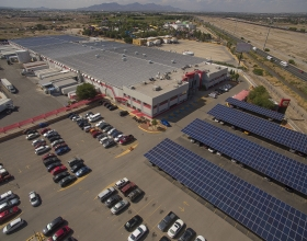 In 2018, the Cummins plant in Juarez, Mexico, received its first full year of renewable power from the solar array it installed over part of its parking lot. Encouraging the production of renewable energy is part of the company's energy goal.