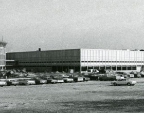 Cummins Technical Center 1960s construction photo