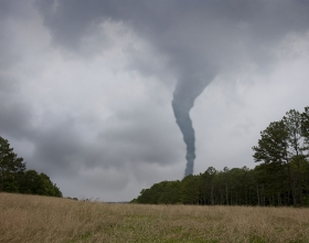 Tornado crossing field