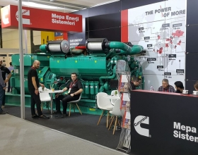 Mepa Energy showcased the Cummins C3000D5 diesel generator set in their stand, which offered a great perk in terms of size and power.