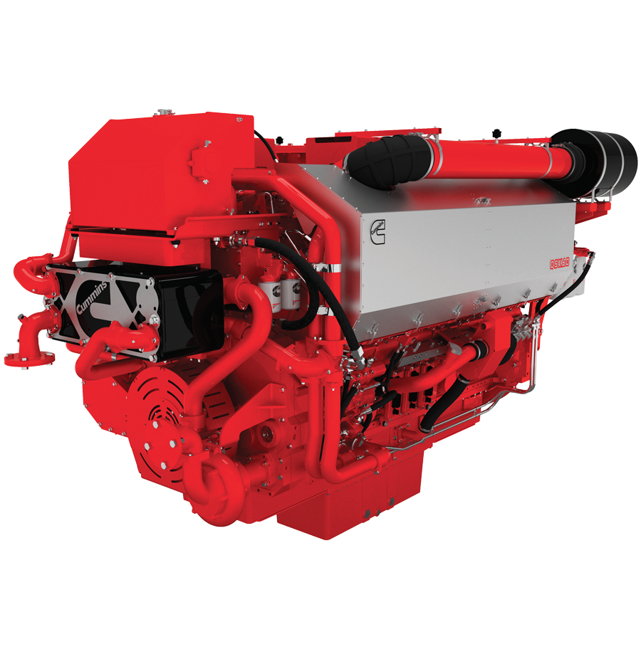 Cummins QSK60 engine for marine auxiliary