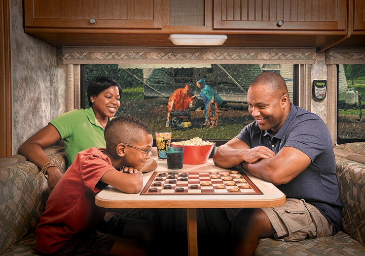 family in their rv