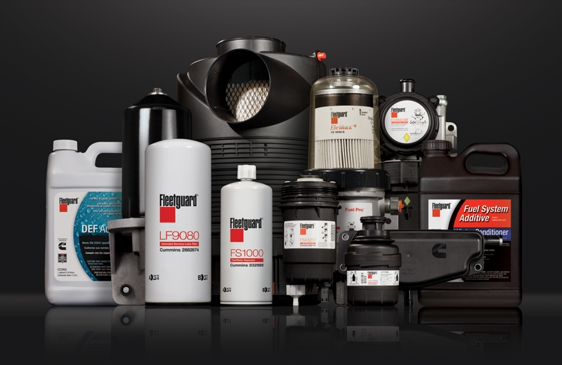 assortment of cummins filtration products